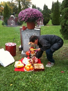 Heather Li's grandparents' grave in Scarborough
